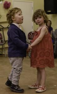 Children barn dancing